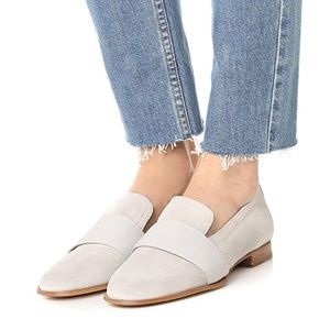 Rag & Bone Amber Suede Calfskin Loafers Off White